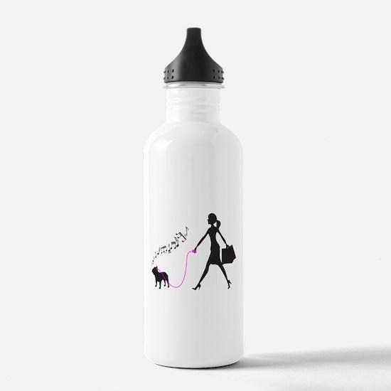 French Bulldog Sports Water Bottle