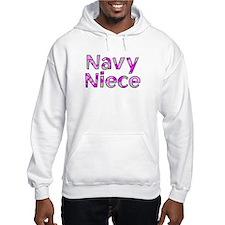 Navy Niece Pink Camo Hoodie