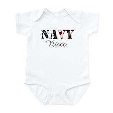 Navy Niece Flag Infant Creeper