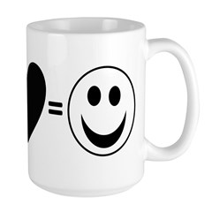 Peace + Love = Happy Mug