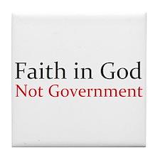 Faith in God Tile Coaster