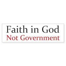 Faith in God Car Sticker