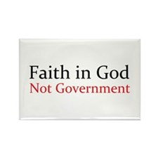 Faith in God Rectangle Magnet (100 pack)