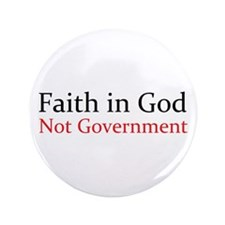 "Faith in God 3.5"" Button (100 pack)"