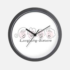 Laughing-Sisters Wall Clock