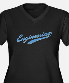 Engineering Swoosh (blue) Women's Plus Size V-Neck