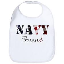 Navy Friend Flag Bib