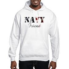 Navy Friend Flag Hoodie