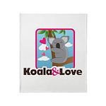 Koala & Love Throw Blanket