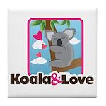 Koala & Love Tile Coaster