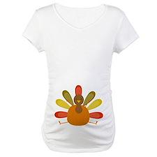 Thanksgiving Turkey Belly Print Maternity Tee