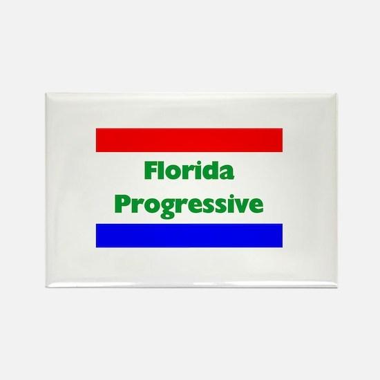 Florida Progressive Rectangle Magnet