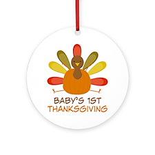 Thanksgiving Turkey Ornament (Round)