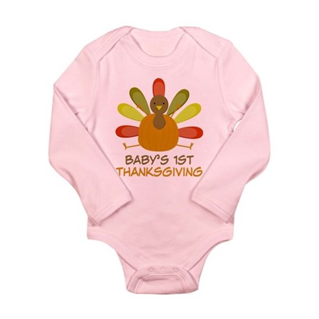 Thanksgiving Turkey Long Sleeve Infant Bodysuit
