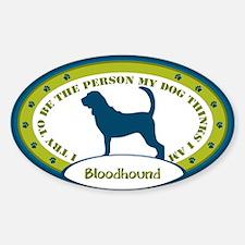 Bloodhound Sticker (Oval)
