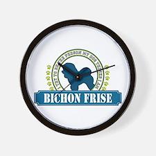 Bichon Wall Clock