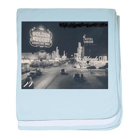 Vintage Las Vegas at Night baby blanket