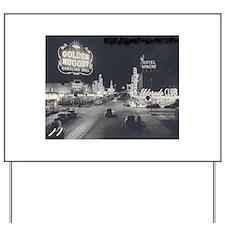Vintage Las Vegas at Night Yard Sign