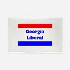 Georgia Liberal Rectangle Magnet
