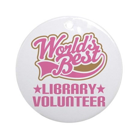 Library Volunteer Ornament (Round)