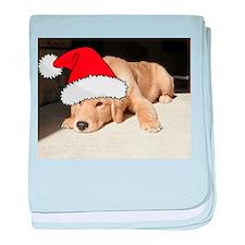 Christmas Golden Retriever Pu baby blanket