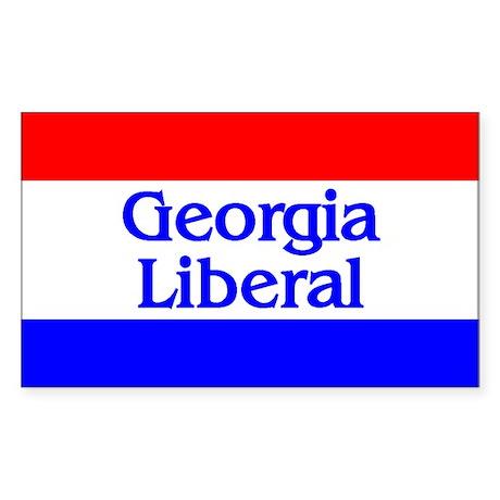Georgia Liberal Rectangle Sticker