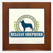 Belgian Shepherd Framed Tile