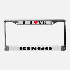 I Love Bingo Retirement License Frame