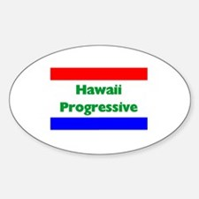 Hawaii Progressive Oval Decal