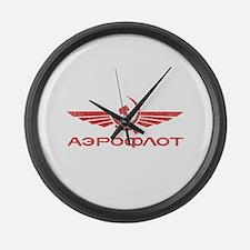 Vintage Aeroflot Large Wall Clock