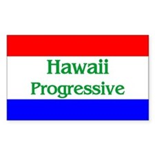 Hawaii Progressive Rectangle Decal