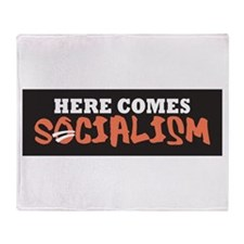 Here Comes Socialism Throw Blanket