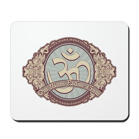 Vintage Devanagari OM Symbol Mousepad