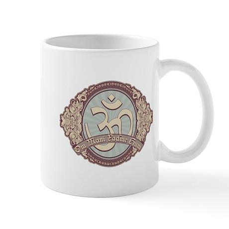 Vintage Devanagari OM Symbol Mug
