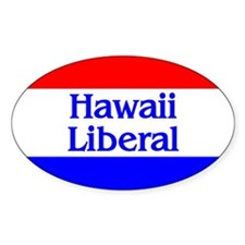 Hawaii Liberal Oval Decal