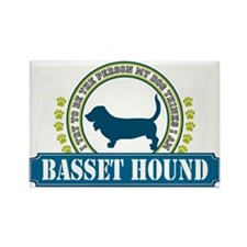 Basset Hound Rectangle Magnet (10 pack)