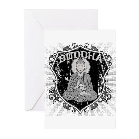 Buddha Grunge Greeting Cards (Pk of 10)