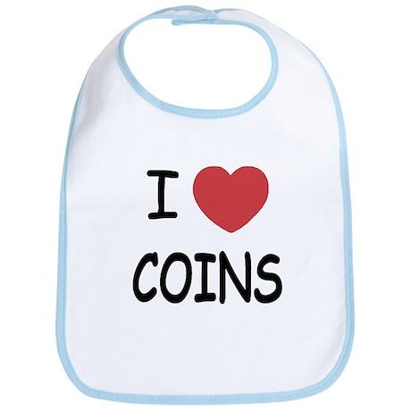 I heart coins Bib