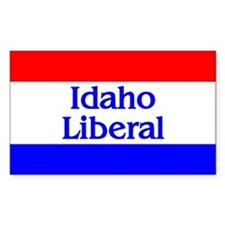 Idaho Liberal Rectangle Decal