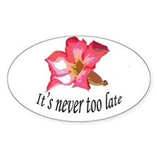 it's never too late birthday Decal
