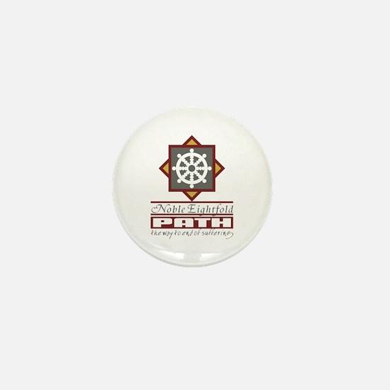 Buddhism Eightfold Path Mini Button