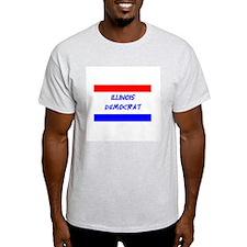 Illinois Democrat Ash Grey T-Shirt