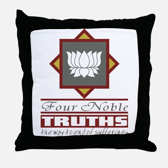 Buddhism Four Noble Truths Throw Pillow