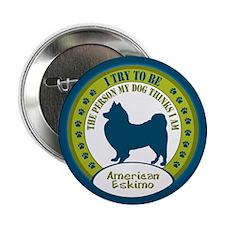 """American Eskimo Dog 2.25"""" Button"""