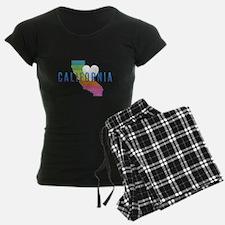 California Heart Rainbow Pajamas