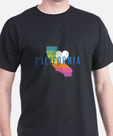 California Heart Rainbow T-Shirt