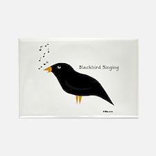 Blackbird Singing Rectangle Magnet