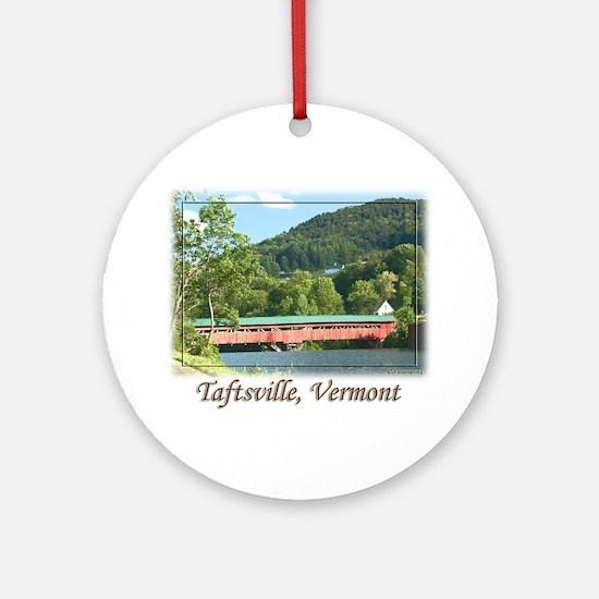 Taftsville VT Covered Bridge Ornament (Round)