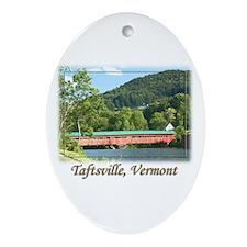 Taftsville VT Covered Bridge Ornament (Oval)