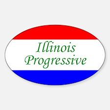 Illinois Progressive Oval Decal